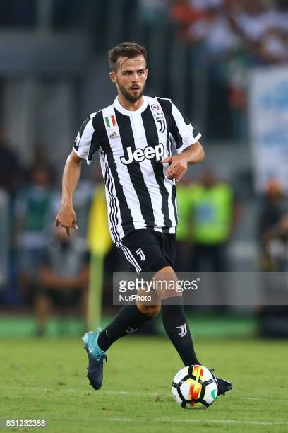 Miralem Pjanic of Juventus during the Italian Supercup match between Juventus and SS Lazio at Stadio Olimpico on August 13 2017 in Rome Italy