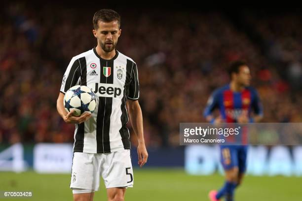 Miralem Pjanic of Juventus FC during the UEFA Champions League quarter final second leg match between Fc Barcelona and Juventus FC The score was 00...