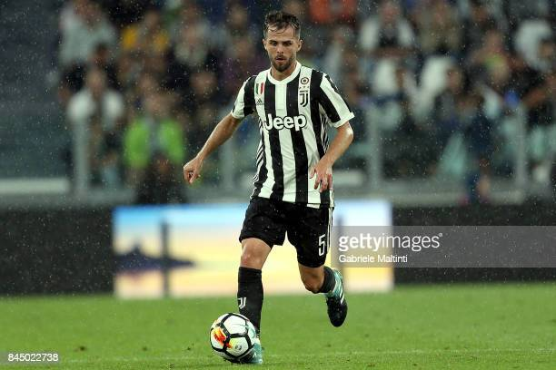 Miralem Pjanic of Juventus FC in action during the Serie A match between Juventus and AC Chievo Verona on September 9 2017 in Turin Italy