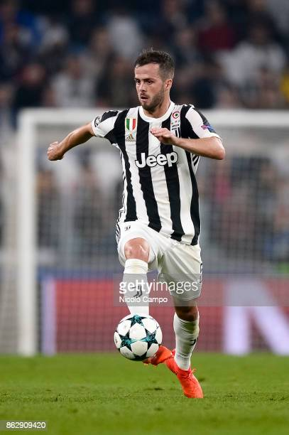 Miralem Pjanic of Juventus FC in action during the UEFA Champions League football match between Juventus FC and Sporting CP Juventus FC wins 21 over...