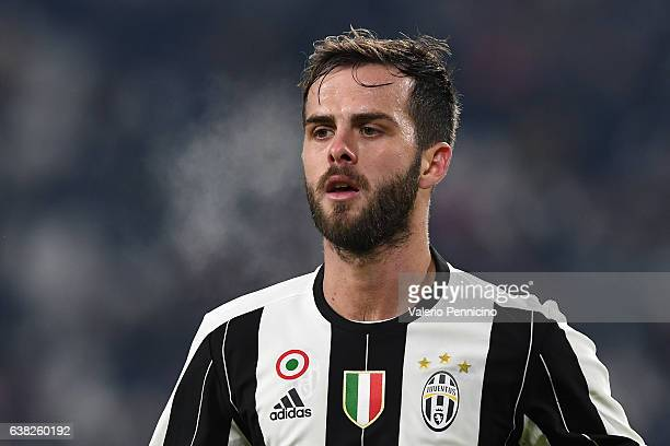 Miralem Pjanic of Juventus FC looks on during the Serie A match between Juventus FC and Bologna FC at Juventus Stadium on January 8 2017 in Turin...