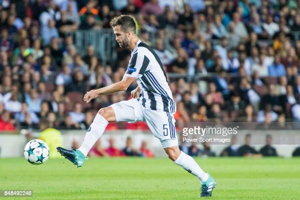 Miralem Pjanic of Juventus in action during the UEFA Champions League 201718 match between FC Barcelona and Juventus at Camp Nou on 12 September 2017...