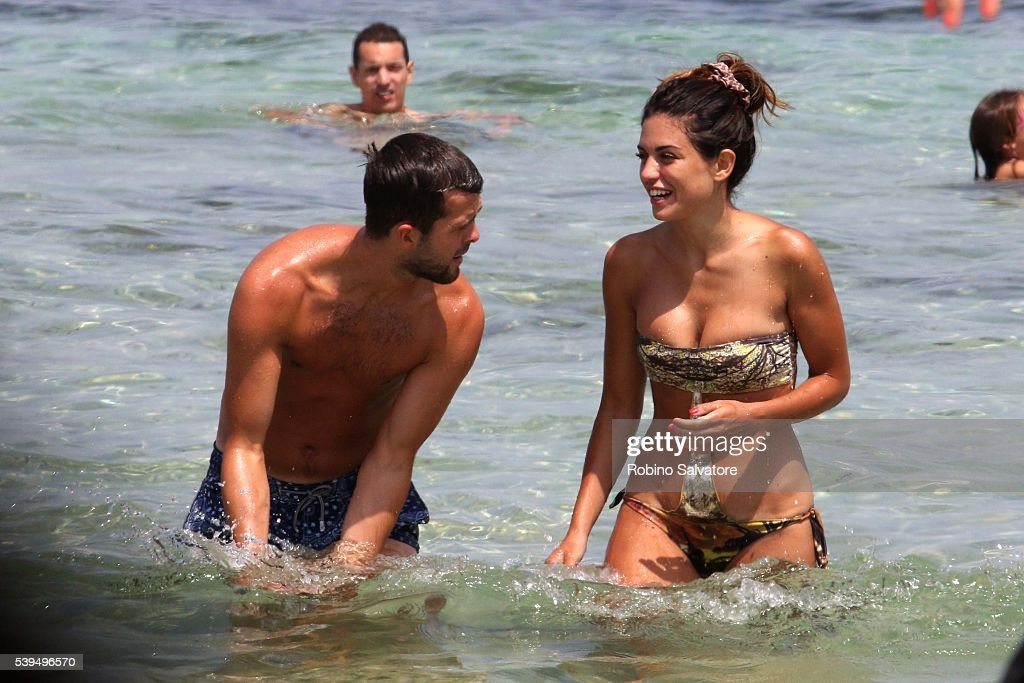 <a gi-track='captionPersonalityLinkClicked' href=/galleries/search?phrase=Miralem+Pjanic&family=editorial&specificpeople=4586190 ng-click='$event.stopPropagation()'>Miralem Pjanic</a> with wife Josepha seen on June 11, 2016 in Ibiza, Spain.