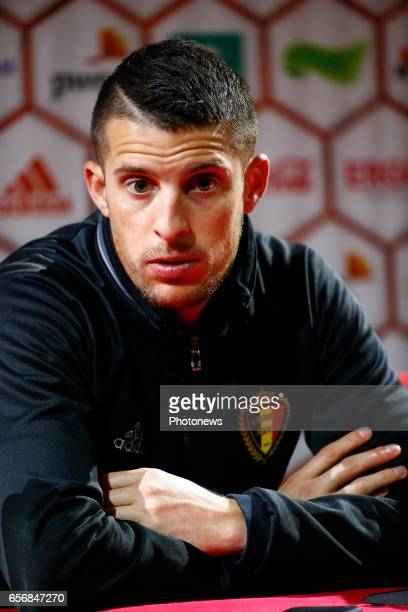 Mirallas Kevin forward of Belgium during the press conference prior to the World Cup 2018 qualification match against Greece at the Belgian Football...
