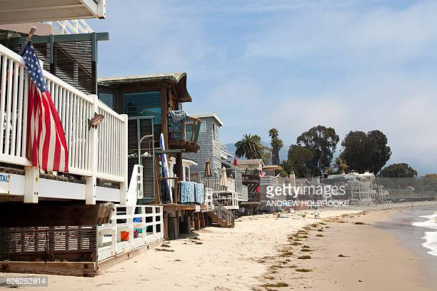 Miramar Beach Montecito on the Pacific Ocean is a wealthy beach community along California's Pacific Coast highway Oprah Winfrey Rob Lowe Ellen...