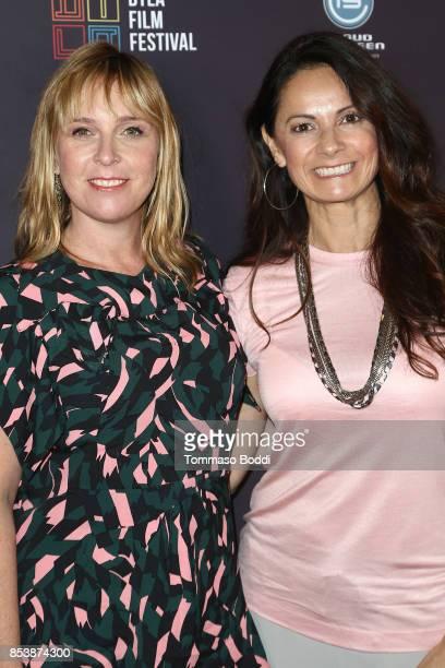 Miranda Bailey and Karolyne Sosa attend the DTLA Film Festival Premiere Of 'The Pathological Optimist' at Regal 14 at LA Live Downtown on September...