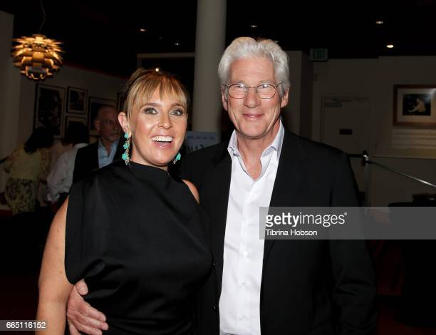 Miranda Bailey and Richard Gere attend the premiere and prereception for Sony Pictures Classics' 'Norman' at Linwood Dunn Theater at the Pickford...
