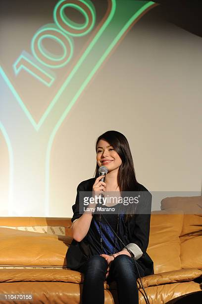 Miranda Cosgrove visits the Y 100 Underground on March 18 2011 in Miami Florida