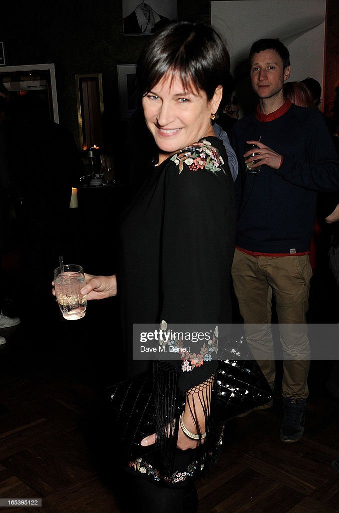 Miranda Davis attends event planner Paul Rowe's 40th birthday party at The Groucho Club on April 3, 2013 in London, England.