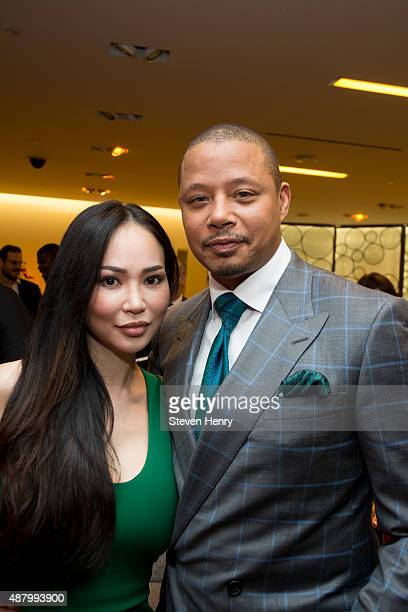 Miranda Howard and Terrence Howard attends Saks Fifth Avenue Empire Fashion Week Event on September 12 2015 in New York City