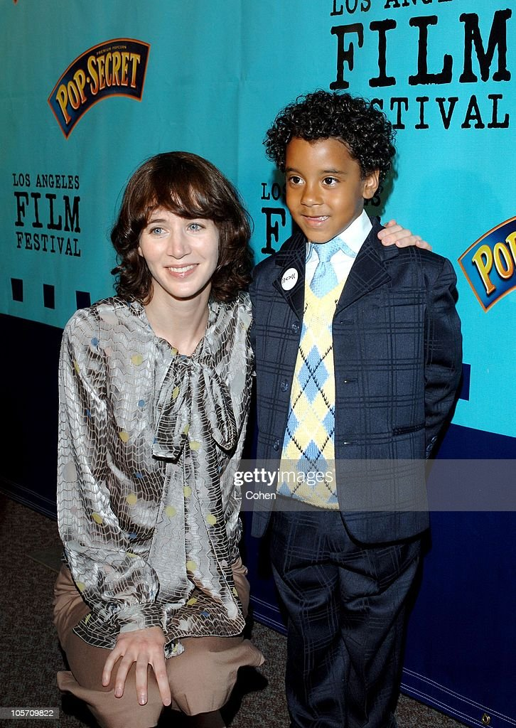 Miranda July and Brandon Ratcliff during 2005 Los Angeles Film Festival 'Me and You and Everyone We Know' Arrivals at Director's Guild of America in...