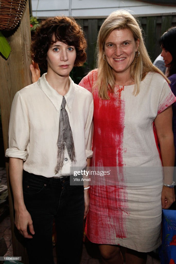 Miranda July and Sarah MacLachlan attend the Talent Lab Welcome Cocktail Party held at a Private Residence during the 2009 Toronto International Film...