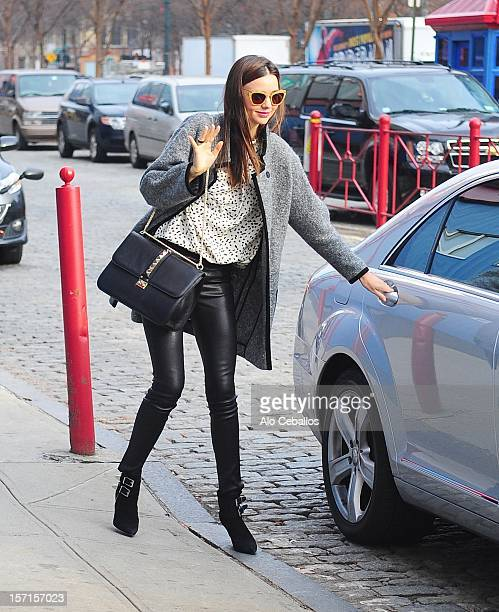 Miranda Kerr and Flynn Christopher Bloom are seen in Chelsea at Streets of Manhattan on November 29 2012 in New York City