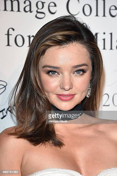 Miranda Kerr and Jin Ming attends the La Koradior show during the Milan Fashion Week Spring/Summer 2016 on September 24 2015 in Milan Italy