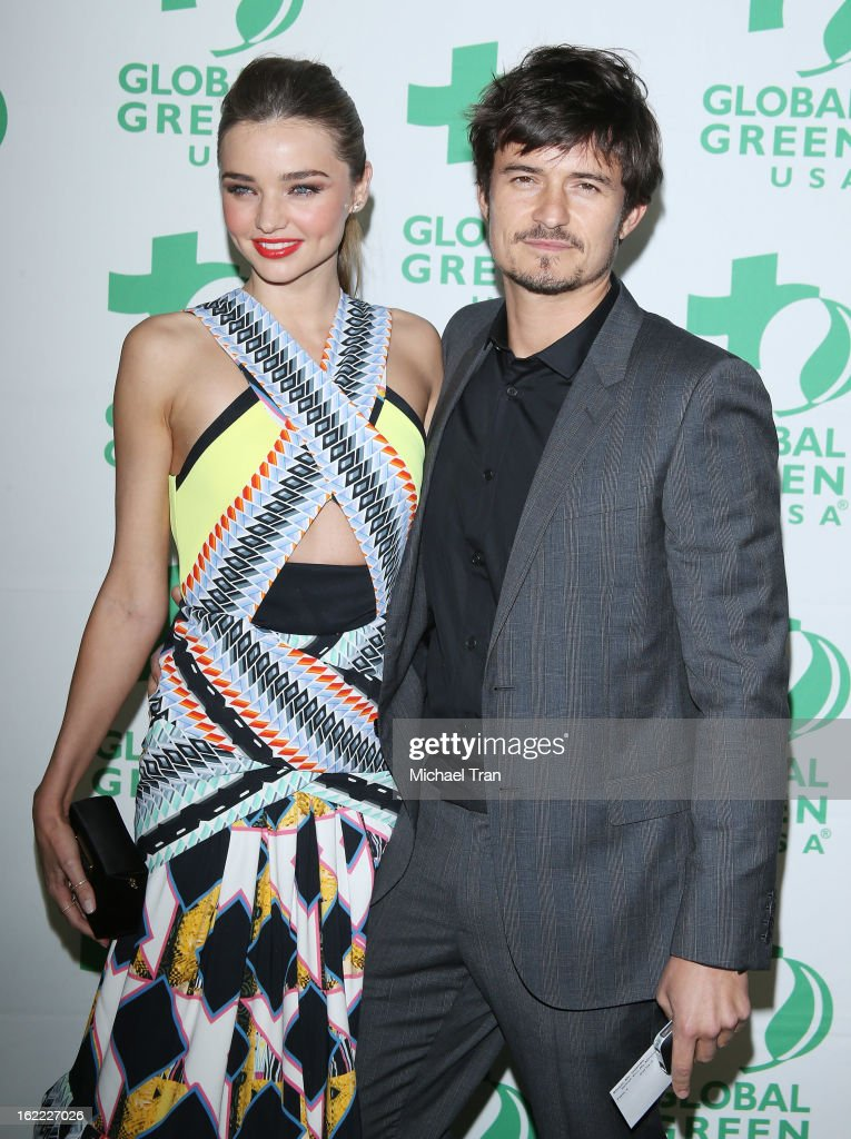 <a gi-track='captionPersonalityLinkClicked' href=/galleries/search?phrase=Miranda+Kerr&family=editorial&specificpeople=5714330 ng-click='$event.stopPropagation()'>Miranda Kerr</a> (L) and <a gi-track='captionPersonalityLinkClicked' href=/galleries/search?phrase=Orlando+Bloom&family=editorial&specificpeople=202520 ng-click='$event.stopPropagation()'>Orlando Bloom</a> arrive at the Global Green USA's 10th Annual pre-Oscar party held at Avalon on February 20, 2013 in Hollywood, California.