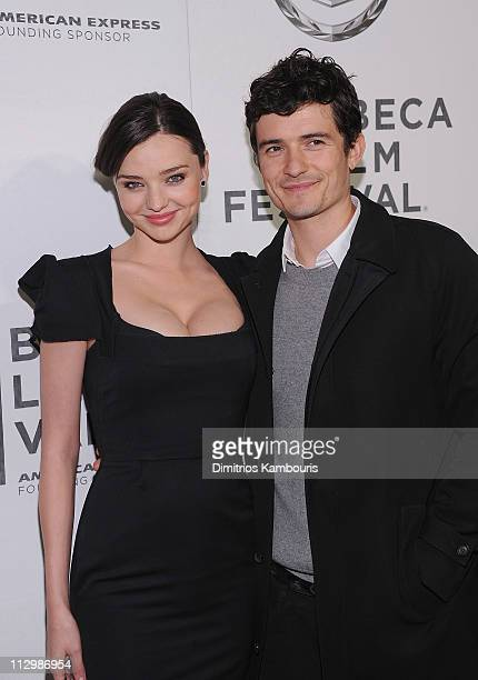 Miranda Kerr and Orlando Bloom attend the premiere of 'The Good Doctor' during the 10th annual Tribeca Film Festival at BMCC Tribeca PAC on April 22...