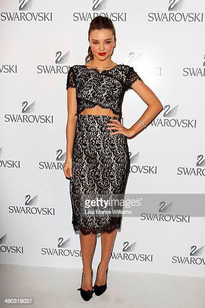 Miranda Kerr arrives for a Swarovski Gala Dinner at Bennelong Restaurant at the Sydney Opera House on May 14 2014 in Sydney Australia