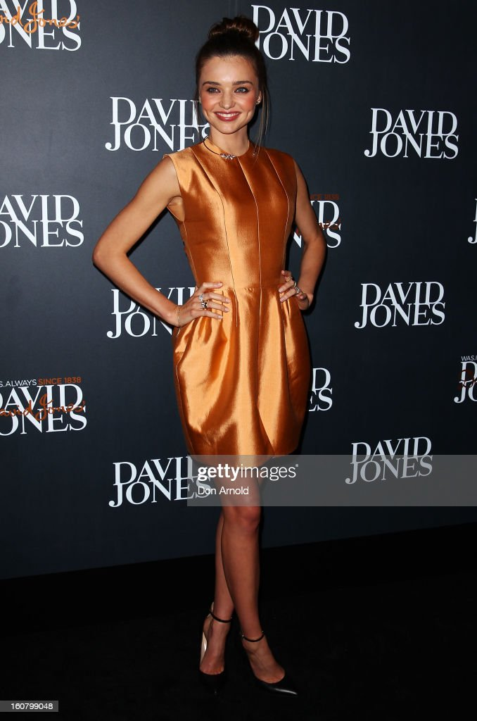 Miranda Kerr arrives for the David Jones A/W 2013 Season Launch at David Jones Castlereagh Street on February 6, 2013 in Sydney, Australia.