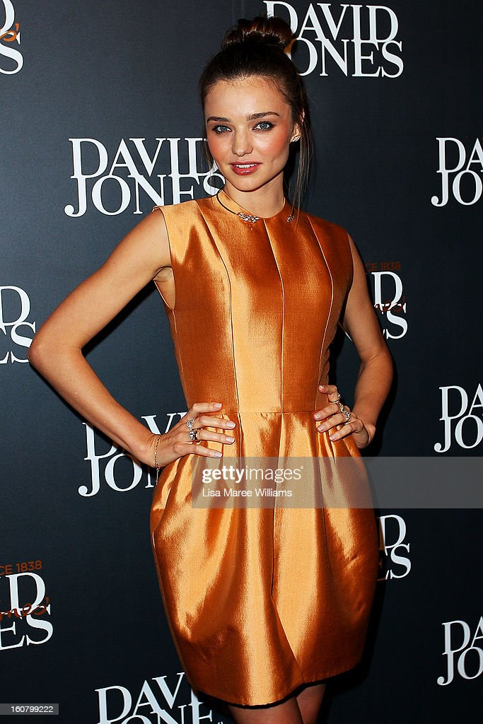 Miranda Kerr arrives showcases designs by Ellery at the David Jones A/W 2013 Season Launch at David Jones Castlereagh Street on February 6, 2013 in Sydney, Australia.