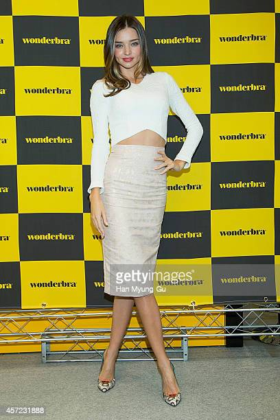 Miranda Kerr attends an autograph session for Wonderbra on October 15 2014 in Seoul South Korea