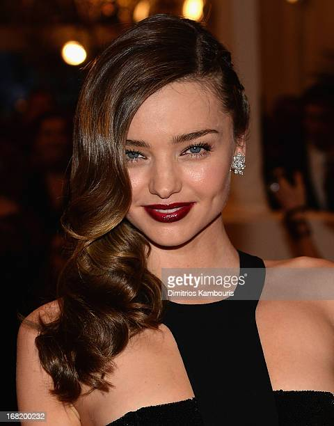 Miranda Kerr attends the 2013 Costume Institute Gala PUNK Chaos to Couture at Metropolitan Museum of Art on May 6 2013 in New York City