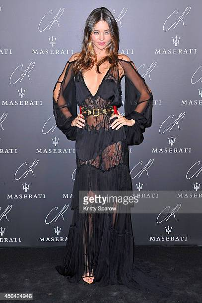 Miranda Kerr attends the CR Fashion Book Issue No5 Launch Party Hosted by Carine Roitfeld and Stephen Gan at The Peninsula Paris on September 30 2014...