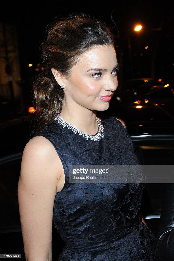 Miranda Kerr attends the H&M show as part of the Paris Fashion Week Womenswear Fall/Winter 2014-2015 on February 26, 2014 in Paris, France.
