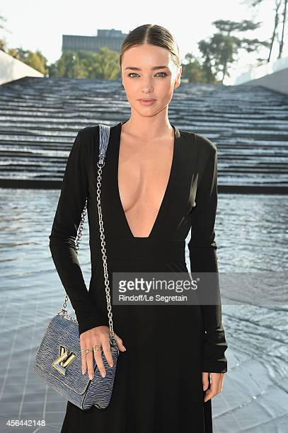 Miranda Kerr attends the Louis Vuitton show as part of the Paris Fashion Week Womenswear Spring/Summer 2015 on October 1 2014 in Paris France