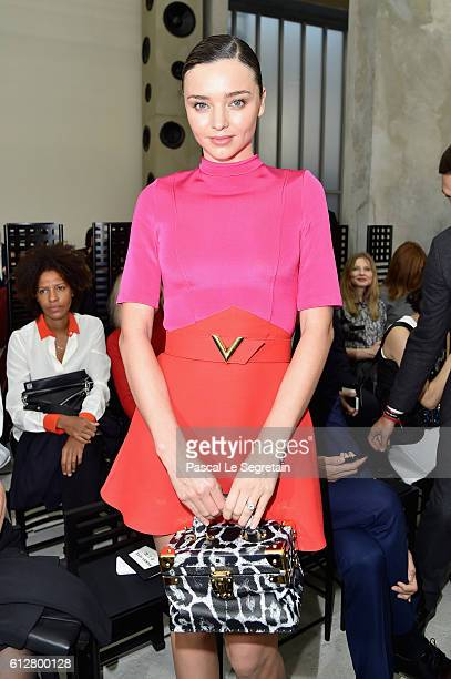 Miranda Kerr attends the Louis Vuitton show as part of the Paris Fashion Week Womenswear Spring/Summer 2017 on October 5 2016 in Paris France