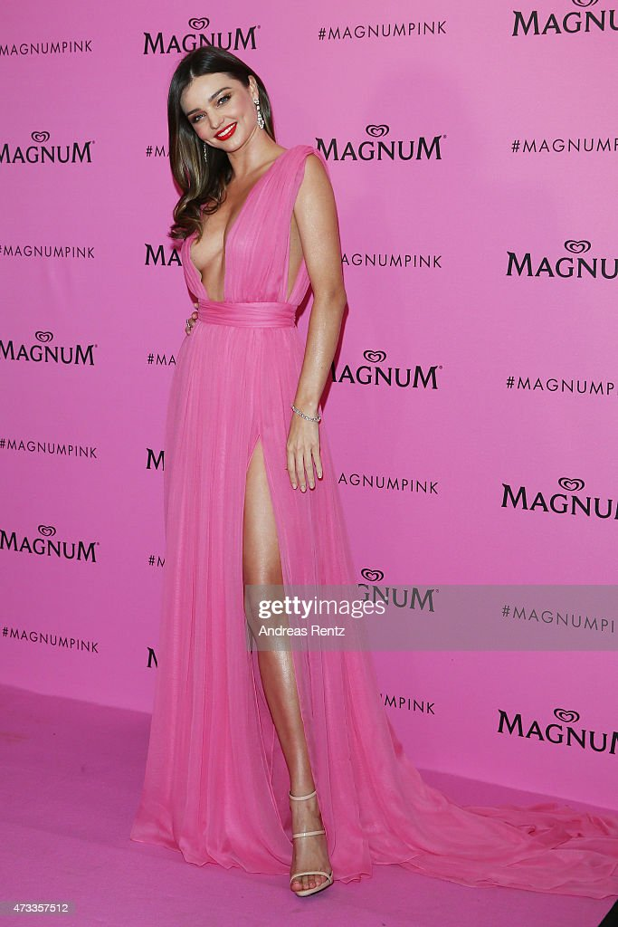 <a gi-track='captionPersonalityLinkClicked' href=/galleries/search?phrase=Miranda+Kerr&family=editorial&specificpeople=5714330 ng-click='$event.stopPropagation()'>Miranda Kerr</a> attends the Magnum 'Pink and Black' party during the 68th annual Cannes Film Festival on May 14, 2015 in Cannes, France.