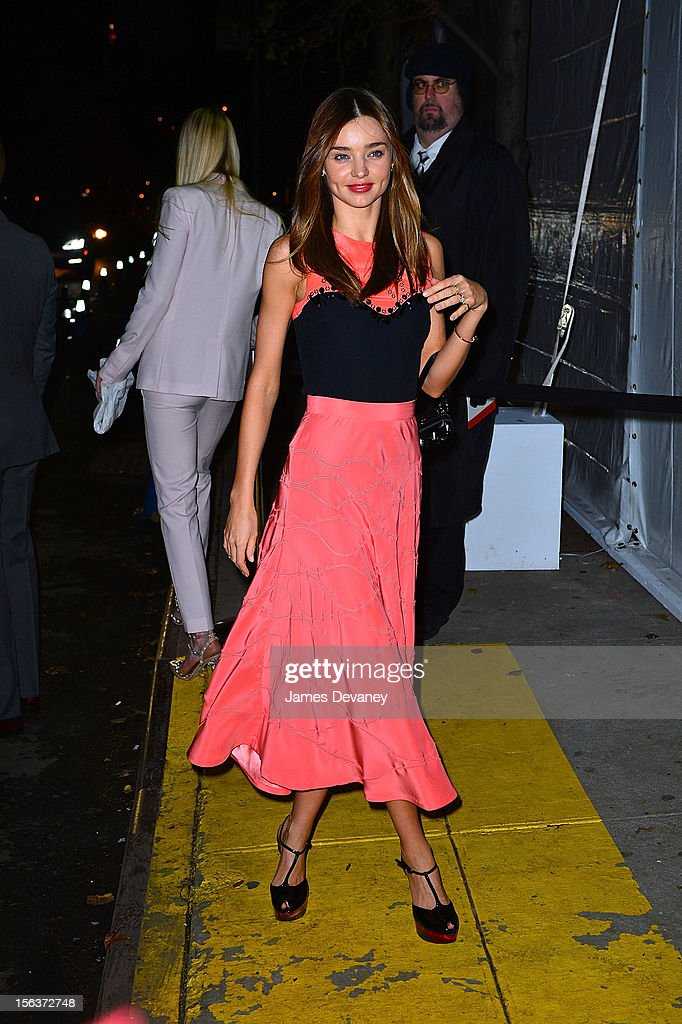 Miranda Kerr attends The Ninth Annual CFDA/Vogue Fashion Fund Awards at 548 West 22nd Street on November 13, 2012 in New York City.