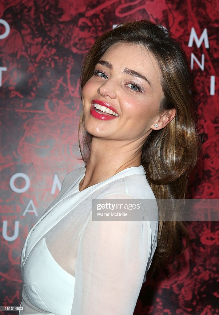 <a gi-track='captionPersonalityLinkClicked' href=/galleries/search?phrase=Miranda+Kerr&family=editorial&specificpeople=5714330 ng-click='$event.stopPropagation()'>Miranda Kerr</a> attends the 'Romeo And Juliet' Broadway Opening Night at Richard Rodgers Theatre on September 19, 2013 in New York City.