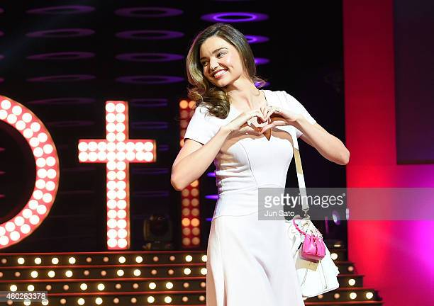Miranda Kerr attends the Samantha Thavasa 20th Anniversary Party at Tokyo Dome City Hall on December 10 2014 in Tokyo Japan