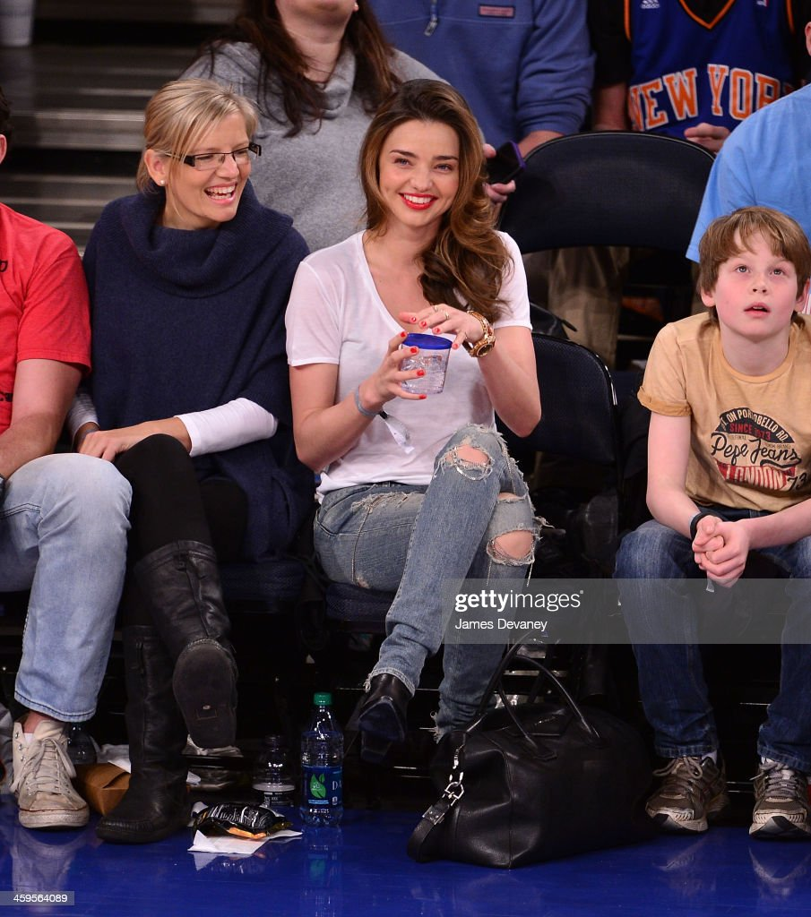 <a gi-track='captionPersonalityLinkClicked' href=/galleries/search?phrase=Miranda+Kerr&family=editorial&specificpeople=5714330 ng-click='$event.stopPropagation()'>Miranda Kerr</a> attends the Toronto Raptors vs New York Knicks game at Madison Square Garden on December 27, 2013 in New York City.