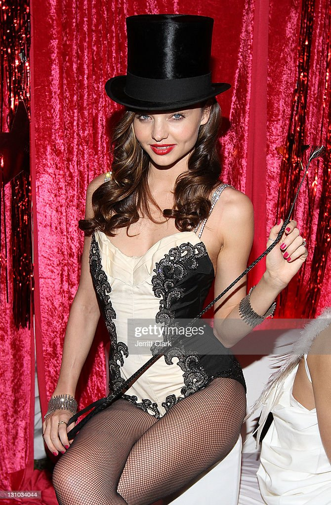 <a gi-track='captionPersonalityLinkClicked' href=/galleries/search?phrase=Miranda+Kerr&family=editorial&specificpeople=5714330 ng-click='$event.stopPropagation()'>Miranda Kerr</a> hosts the Sexy Circus Halloween Party at Catch Rooftop on October 31, 2011 in New York City.