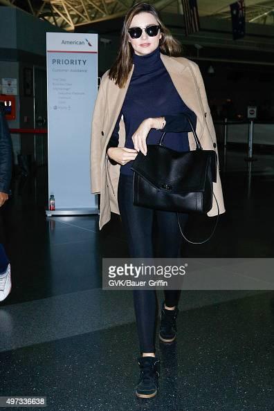 Miranda Kerr is seen at JFK on November 15 2015 in New York City