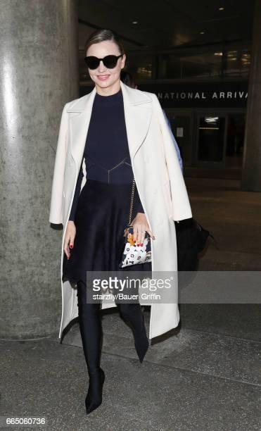 Miranda Kerr is seen at LAX on April 05 2017 in Los Angeles California