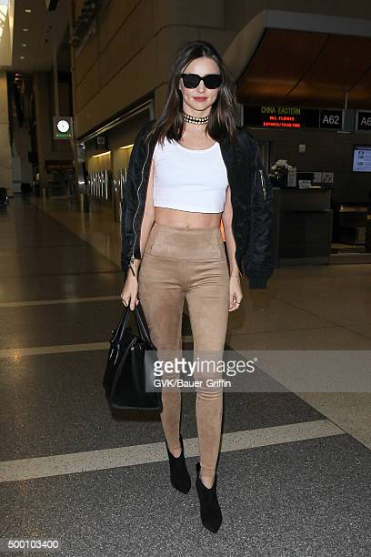 Miranda Kerr is seen at LAX on December 05 2015 in Los Angeles California