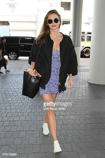 Miranda Kerr is seen at LAX on June 30 2015 in Los Angeles California