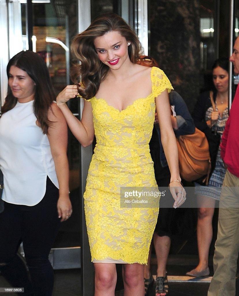 Miranda Kerr is seen in Midtown on June 4, 2013 in New York City.