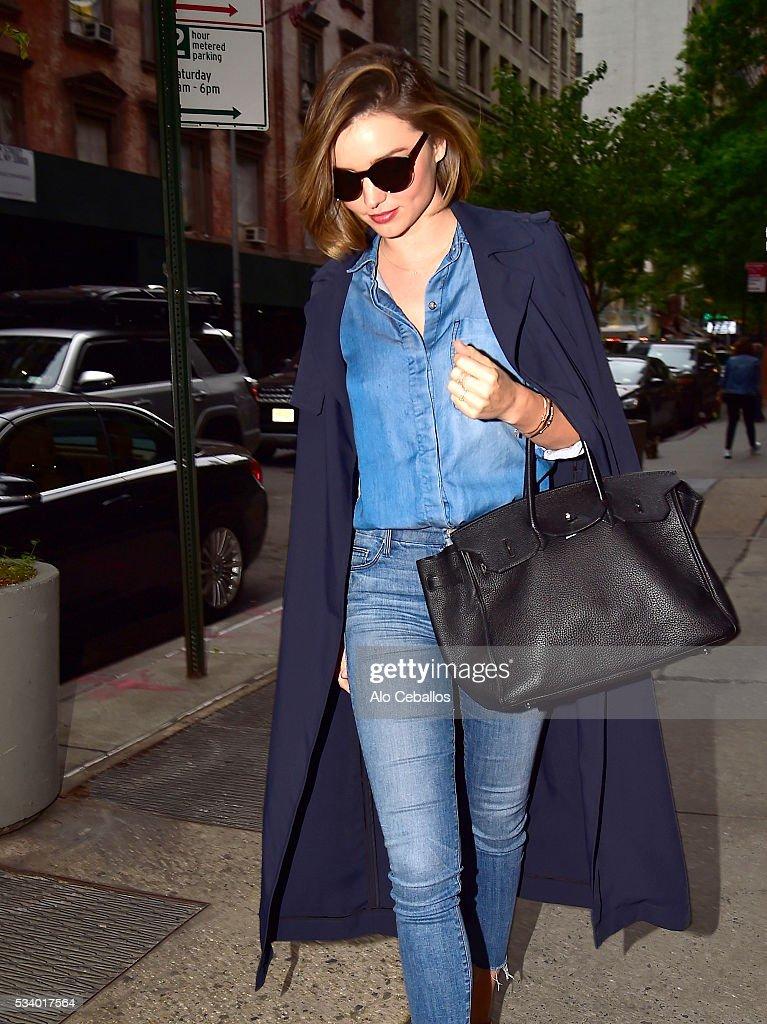 Miranda Kerr is seen in Soho on May 24, 2016 in New York City.