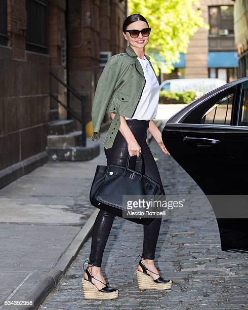 Miranda Kerr is seen leaving Spring Studios on May 25 2016 in New York City
