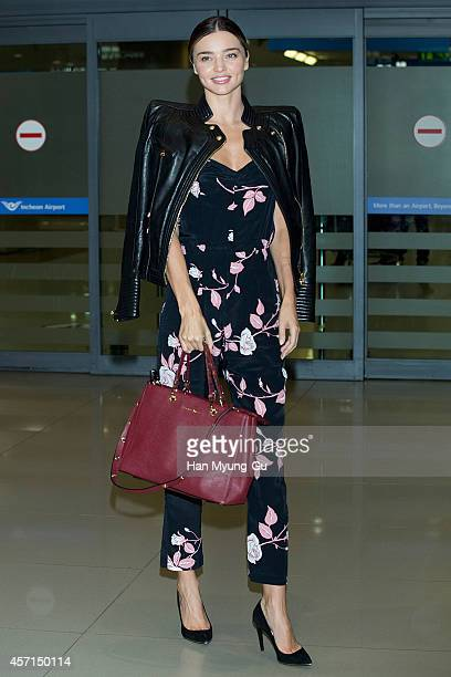 Miranda Kerr is seen upon arrival at Incheon International Airport on October 13 2014 in Incheon South Korea