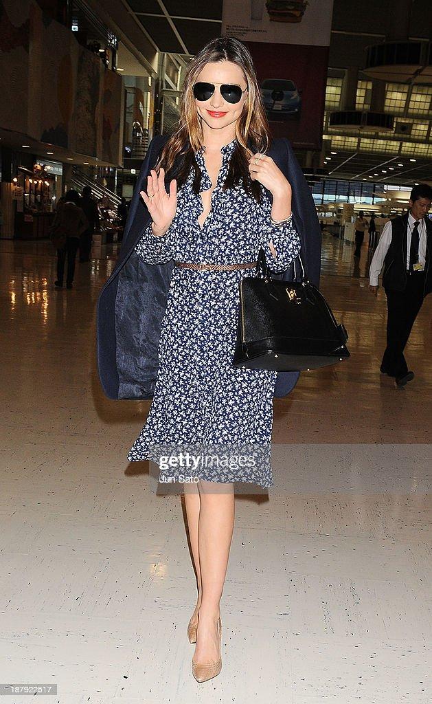 Miranda Kerr is sighting at Narita International Airport on November 14, 2013 in Narita, Japan.
