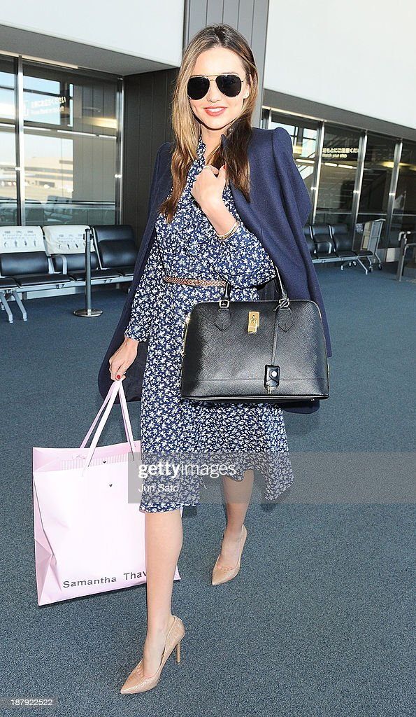 Miranda Kerr is sighting at Narita International Airport on November 14, 2013 in Narita, Japan.