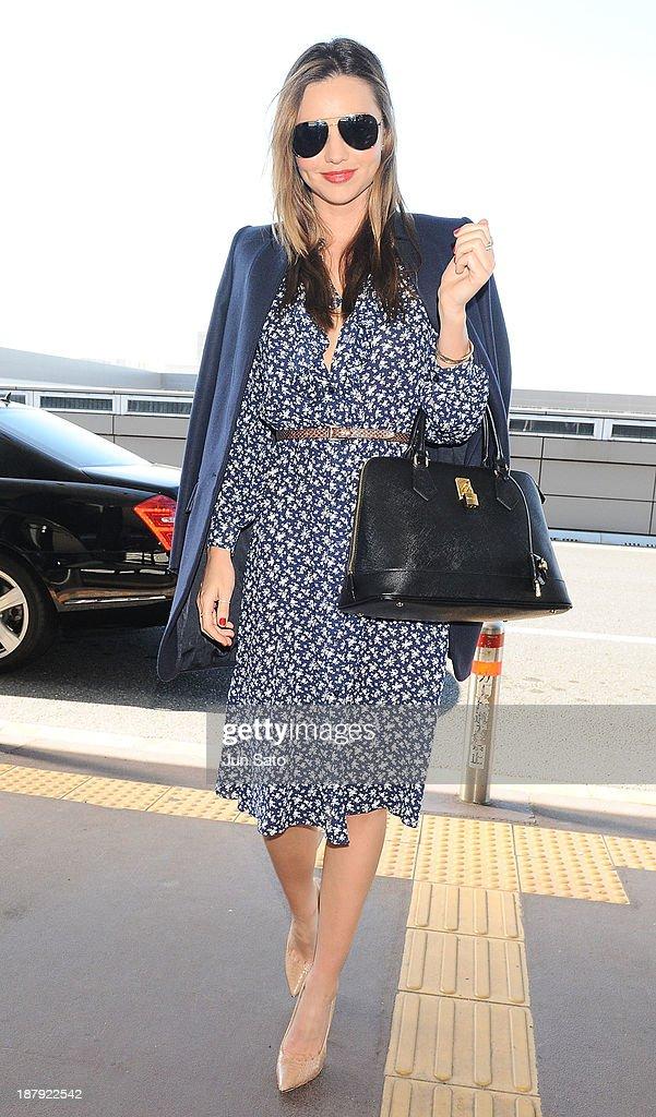 Miranda Kerr is sighting at Narita International Airport on November 14 2013 in Narita Japan