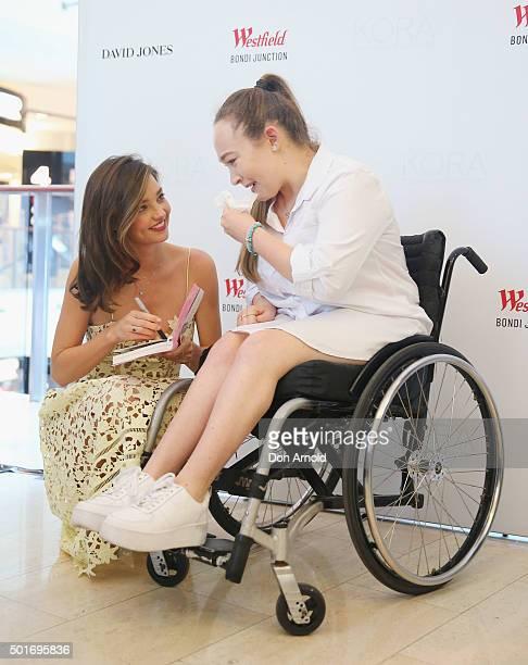 Miranda Kerr meets Larissa Aussen at Westfield Bondi Junction on December 17 2015 in Sydney Australia