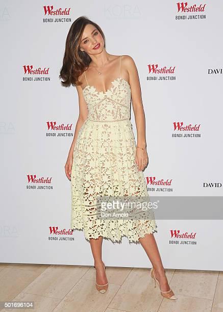 Miranda Kerr poses at Westfield Bondi Junction on December 17 2015 in Sydney Australia