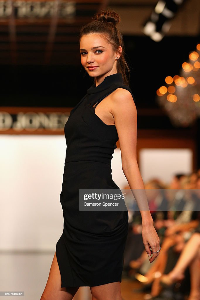 Miranda Kerr showcases designs by Camilla and Marc on the runway during the David Jones A/W 2013 Season Launch at David Jones Castlereagh Street on February 6, 2013 in Sydney, Australia.
