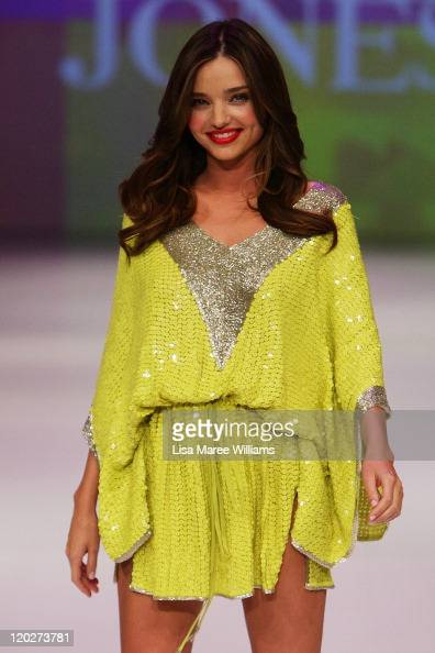 Miranda Kerr showcases designs by Camilla on the catwalk at the David Jones Spring/Summer 2011 season launch at the Royal Hall of Industries Moore...